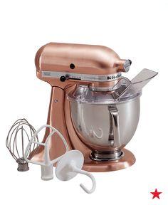 Custom Metallic 5 Quart KitchenAid Artisan Stand Mixer in Satin Copper Copper Kitchen Aid, Kitchen Aid Mixer, Kitchen Tools, Kitchen Gadgets, Kitchen Decor, Kitchen Shop, Copper Kitchen Accents, Copper Accents, Kitchen Dining