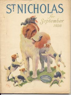 St. Nicholas magazine St Bernard cover, September 1928