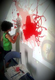 Pokój Filipa: kolorowy, energetyczny mural, przy którym pomagał sam Filip. Murale tworzymy nie tylko dla dzieci ale z dziećmi! To świetna zabawa, okazja do włączenia dziecka w prace nad własnym pokojem. This is mural in Philip's room. Mural is colorful and energetic.Philip helped us at work. We create murals for children but children can work with us!. It's fun, and opportunity to include the child in the work of their own room Graffiti, Hand Painted, Children, Walls, Painting, Color, Home Decor, Art, Young Children