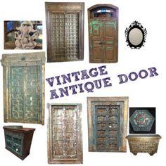 Antique Furniture: INDIAN ANTIQUE WOODEN DOOR