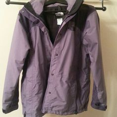 North face coat Lightly worn winter coat w/ hood that unzips from back. Great condition w/ no rips or stains. Outer shell only missing fleece that zips into it. North Face Jackets & Coats