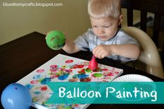 Balloon Painting. For the students with sensory issues that don't like paint on their hands