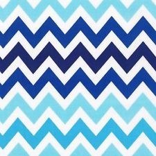 """FQ Robert Kaufman Remix Chevron Surf Blue 100% Cotton Fabric (18"""" x 22"""")  I'm really liking the idea of chevrons on the baby's crib skirt.  That way I can change the crib sheets as needed and replace them with most any color blue sheets."""
