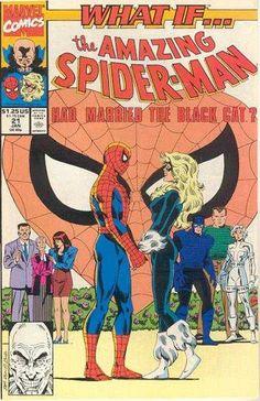 2 # 21 Marvel Comics 1991 Spider-Man Married the Black Cat? Spiderman Black Cat, Mafex Spiderman, Black Cat Marvel, Amazing Spiderman, Marvel Comics, Marvel Comic Books, Fun Comics, Marvel Heroes, Comic Books Art