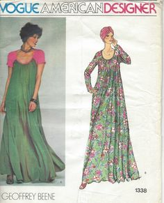1970s Vintage Vogue Sewing Pattern B34 Evening Dress R905 by Geoffrey Beene | eBay