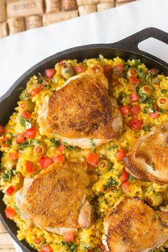 One Pot Spanish Chicken with Rice