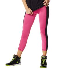 Zumba Fitness New On The Scene Capri - Pin a Rose Pink | Global Z Fitness #zumba #fitness #zumbaclothes #activewear