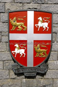 Coat of Arms Newfoundland Canada, Newfoundland And Labrador, Canadian Things, Canada Eh, Atlantic Canada, Canadian History, Family Crest, My Heritage, Pics Art