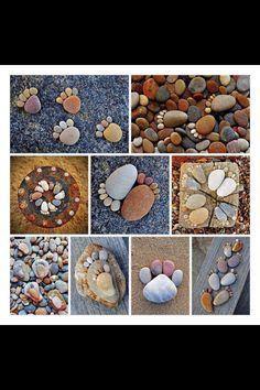 Creative Craft Ideas, Making Home Decorations with Beach Pebbles Stone Crafts, Rock Crafts, Arts And Crafts, Diy Crafts, Decor Crafts, Art Pierre, Garden Crafts, Garden Kids, Garden Path