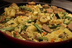 """No-rice """"Paella"""" -- thanks to the magic of cauliflower."""