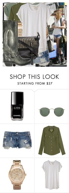 """at the farmer's market in los angeles."" by valerieking ❤ liked on Polyvore featuring Cyrus, Chanel, Ray-Ban, INC International Concepts, Elizabeth and James, FOSSIL, Étoile Isabel Marant, Tylie Malibu, Frye and military"