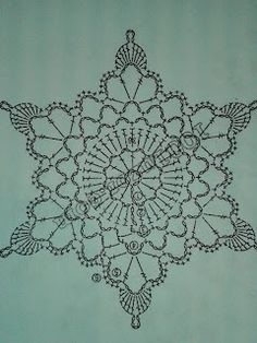 Szydłaki Cudaki - Amigurumi - Handmade with love: grudnia 2015 Crochet Snowflake Pattern, Crochet Edging Patterns, Christmas Crochet Patterns, Holiday Crochet, Crochet Snowflakes, Tatting Patterns, Crochet Diagram, Doily Patterns, Crochet Motif