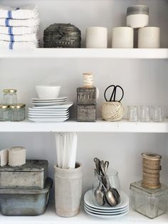 Perfect open shelving.