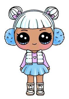Sadece Kiyafeti Ve Sacina Bakarak Ciz Anime Kawaii Art Lol Dolls Cute
