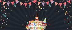Birthday Flags, Happy Birthday Bunting, Happy Birthday Greeting Card, Happy Birthday Balloons, Happy Birthday Parties, Happy Birthday Posters, Happy Birthday Images, Cartoon Birthday Cake, Party Cartoon