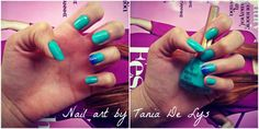 Ombre turquoise nails
