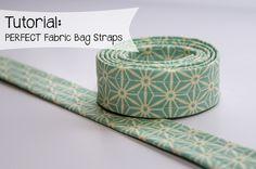 Sew Perfect Fabric Bag Straps | http://sewplicity.com/2014/05/sew-perfect-bag-straps/