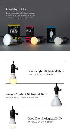 LED. LED lightbulbs. Healthy light bulbs. Good night sleep bulbs. Fall asleep naturally. Energy efficient bulbs. Biological bulb. Natural energy boost.