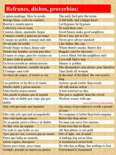 Spanish Idioms, Spanish Grammar, Spanish English, Spanish Words, Spanish Language Learning, English Idioms, Teaching Spanish, English Grammar, Spanish Practice