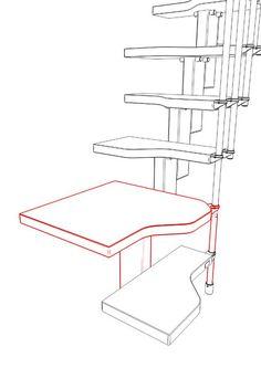 principe bordes ruimtebesparende trap