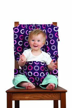 Portable baby seat / Silla de comer portátil  $29.95 / €28.71  http://regalosfabulosos.com/silla-de-comer-portatil-regalos-originales-curiosos-para-mama/ #regaloscuriosos #regalosparamama #regalosoriginales #bebe #baby #regalos #mama #mom