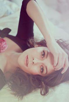 #Ana #sexy #brunette #rose