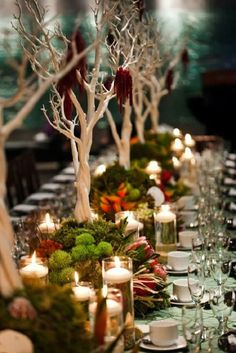 30 Tolle Harry Potter Hochzeit Ideen You are in the right place about wedding table decorations candles Here we offer you the most beautiful pictures about the Thanksgiving Tablescapes, Thanksgiving Decorations, Christmas Decorations, Christmas Trees, Rustic Thanksgiving, Simple Christmas, Outdoor Christmas, Woodland Christmas, Black Christmas