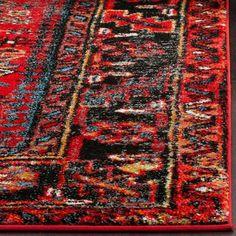 Safavieh Vintage Hamadan Traditional Red/ Multi Rug (3' x 5')