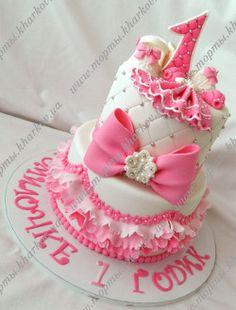 Для девочки торт на 1 годик