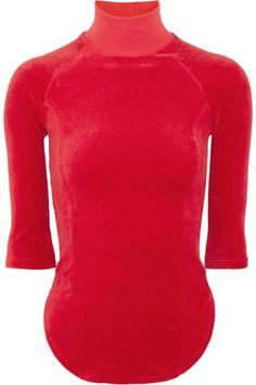Vetements - Juicy Couture Cotton-blend Velour Top - Red - x small