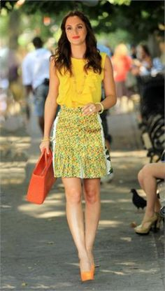 Yellow style---I love Blair Waldorf's style (from Gossip Girl)