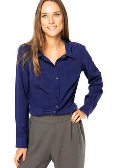 Camisa DAFITI UNIQUE Azul - Compre Agora | Dafiti Brasil