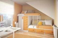 chambre moderne orange