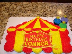 Connor's Carnival Birthday (Cupcake) Cake
