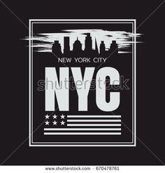 Vector illustration on the theme in New York City. Stylized American flag. Typography, t-shirt graphics, poster, print, banner, flyer, postcard