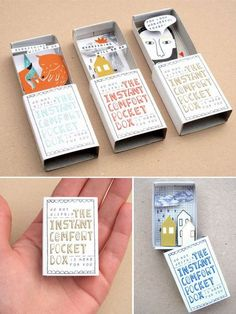 40 Ridiculously Easy DIY Christmas Gifts If you're looking for some DIY christmas gifts to make for a significant other, friend, family member, or parent then these are the best DIY ideas! Matchbox Crafts, Matchbox Art, Kids Gifts, Craft Gifts, Fun Crafts, Paper Crafts, Easy Diy Christmas Gifts, Christmas Christmas, Easy Gifts