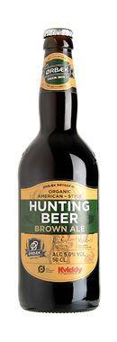 HUNTING BEER BROWN ALE /  Denne øl er brygget med udgangspunkt i den amerikanske Brown Ale, hvor vi benytter udvalgte humletyper, som er med til at give den udsøgte smag og aroma. Ørbæk jagtøl er en forfriskende fyldig øl, som kan nydes ved enhver lejlighed.