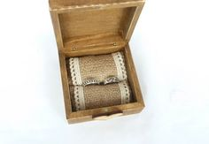 We Do Wedding Ring Box Rustic Ring Bearer Box by SayaArtDesign