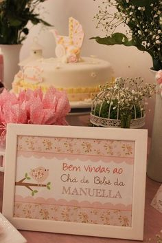 quadrinho boas vindas Baby Shower Drinks, Baby Shower Parties, Baby Shower Themes, Garden Birthday, Baby Birthday, Baby Elefante, Baby Tea, E Craft, Bird Party