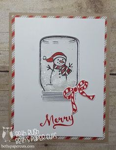 Jar of Cheer from Stampin' Up! Beth's Paper Cuts