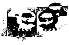 Inverse Arctic by TsukiTsu Notan Design, Notan Art, Negative Space Art, Tesselations, Paper Cutting Patterns, Composition Art, Positive Art, Doodle Patterns, Elements Of Art