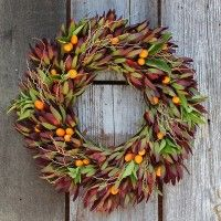 Crimson Citrus Wreath * Flora Grubb Gardens as seen in Sunset Magazine