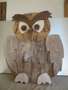 Pallet Art, Diy Pallet Projects, Wood Projects, Wooden Crafts, Wooden Toys, Wood Owls, Wood Animal, Owl Crafts, Wood Planters
