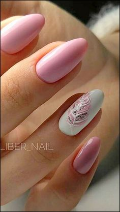Over 50 beautiful nail design ideas for feather nails - page 74 of 99 - nail-de . , Over 50 beautiful nail design ideas for feather nails - page 74 of 99 - nail-de . Cute Nails, Pretty Nails, My Nails, Pink Gel Nails, Almond Gel Nails, Pink White Nails, Happy Nails, Blue Nail, Spring Nails