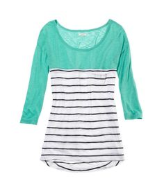 American Eagle Aerie true colors T Modest Fashion, Fashion Outfits, Women's Fashion, Cute Tshirts, My Wardrobe, Shirt Outfit, Tee Shirt, Style Me, Cute Outfits