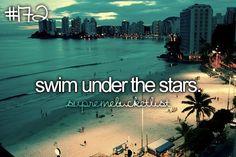 I love to swim! It's my romance!