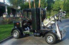 Big rig semi golf cart peterbilt www.DieselTees.com