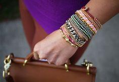 pulseras hechas de hilo.Tutorial.