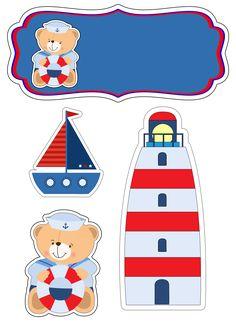 Lindo topo de bolo do ursinho marinheiro Nautical Baby, Nautical Theme, Baby Shower Marinero, Moldes Para Baby Shower, Scrapbook Bebe, Baby Motiv, Chocolate Wrapping, Baby Shawer, Mini Album Tutorial
