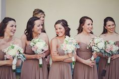 Bridesmaids by Bill Levkoff ~ Photography by jnicholsphoto.com, Floral Design by pizzinidesigns.com
